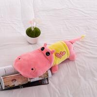 可爱河马公仔毛绒玩具抱枕布娃娃玩偶睡觉枕头送爱人生日礼物