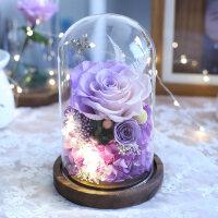 永生花生日礼物玫瑰花礼盒玻璃罩摆件情人节圣诞礼品送女朋友老婆