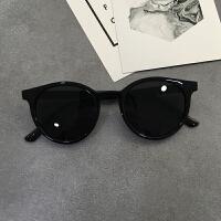 中国有嘻哈PGONE同款男太阳镜透明黄色复古小圆框女生墨镜