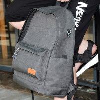 韩版双肩背包青年电脑旅行男士包校园初中高中学生书包男时尚潮流