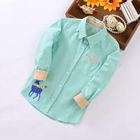 男童衬衫秋装2-4-6-8岁韩版中大童衬衣男孩长袖上衣儿童装