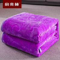 加厚速暖珊瑚绒毯子床单双人法兰绒毛毯学生宿舍盖毯小被子j17