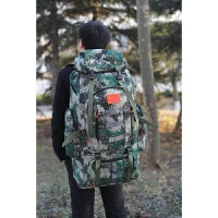 特大迷彩登山包男户外双肩包80L旅行包牛津野营背囊行李背包