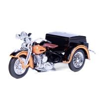 美驰图原厂1:18哈雷戴�S森三轮摩托车车模型仿真合金车模型收藏 橙色+黑色 106