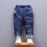 宝宝加绒裤子男童冬装0-1岁3儿童棉裤加厚外穿秋冬小童婴儿加绒裤
