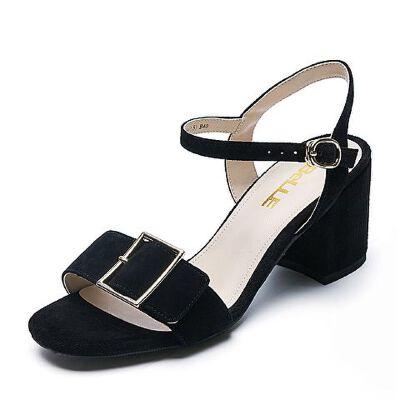 Belle/百丽夏季专柜同款羊绒皮革女皮凉鞋BZI30BL7