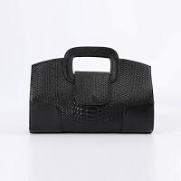 女手包2018新款蛇纹真皮手拿包女欧美潮时尚手提女包手提小包包SN0327