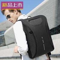 2018双肩包男士商务休闲电脑包15.6寸多功能防盗背包出差旅行包 典雅黑