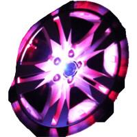 七彩汽车太阳能轮毂灯跑马灯装饰灯LED爆闪灯轮胎灯风火轮改装灯
