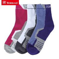 探路者袜子 秋冬户外女式舒适透气有弹力袜子套装ZELF92112
