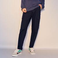 【2件1.5折价:89.9,26日0点可叠券】美特斯邦威 男斜纹多袋舒适长裤