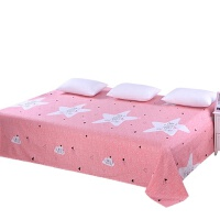 老粗布帆布亚麻加厚床单三件套(床单+枕套)炕单1.21.51.8米 乳白色 彩虹紫色