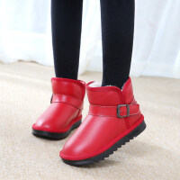 儿童雪地靴防水男童鞋女童短靴2019新款冬季加绒加厚宝宝棉靴srr