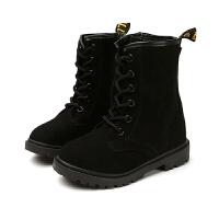 2018款冬秋季童鞋女童单靴公主韩版男童马丁靴儿童皮靴中高筒靴子
