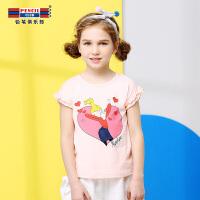 【专区119元4件】铅笔俱乐部童装2020夏季女童短袖T恤儿童休闲上衣中大童圆领T恤