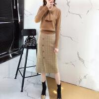 针织连衣裙春装2019新款女闺蜜气质小香风毛衣裙子两件套装春秋季
