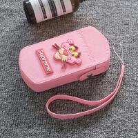 自拍神器Kasio可爱潮顽皮豹相机包 TR750 80 700 600 550 350s创 粉色 大眼豹包+同款手绳