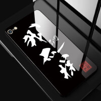 iphone6 plus手机壳全屏钢化膜 苹果6保护套 6s 6splus 手机套 保护壳 全包边硅胶防摔钢化玻璃彩绘