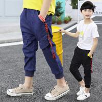 儿童男童九分裤夏装新款中童装休闲牛仔裤薄款10岁潮裤子