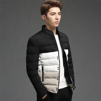 棉袄男韩版学生2017冬季新款拼色棉衣男短款外套冬装潮流帅气