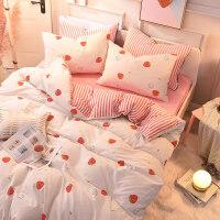 a全棉磨毛b宝宝法兰绒冬季加厚床上四件套网红法莱珊瑚绒床单被套