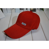 韩版春夏季男士帽子广告帽布帽 户外运动帆布棒球帽加长檐太阳帽 可调节