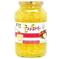 【保质期至20年1月10日】全贤 蜂蜜苹果茶1kg 韩国原装进口苹果酱冲饮品蜜炼茶果肉饮料