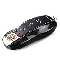 真碳纤维汽车钥匙套 宝马3系5系大众奔驰路虎奥迪钥匙包 保时捷 卡宴 卡曼macan 帕拉梅拉Cayman 专车专用
