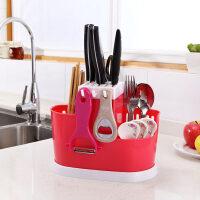 多功能家用插放厨房用品收纳置物架架刀座筷笼一体筷筒