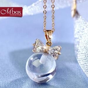 新年礼物Mbox项链 女韩国版原创采用波西米亚风元素时尚锁骨项链配饰 锁心