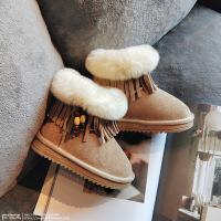 №【2019新款】冬天小朋友穿的女童雪地靴新款儿童鞋女宝棉鞋韩版加绒流苏短靴
