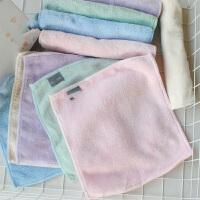 珊瑚绒柔软擦手巾宝宝儿童小毛巾婴儿小方巾幼儿园面巾 一盒10条装 20x20c/