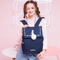 奥尔达书包女韩版高中ins风初中学生双肩电脑包包大容量校园背包