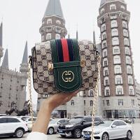女士单肩斜挎小包包夏韩版时尚潮包2018上新款女包印花包
