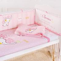 婴儿床围套件夏季三明治3D网眼透气儿童宝宝床帏新款通用可洗防撞