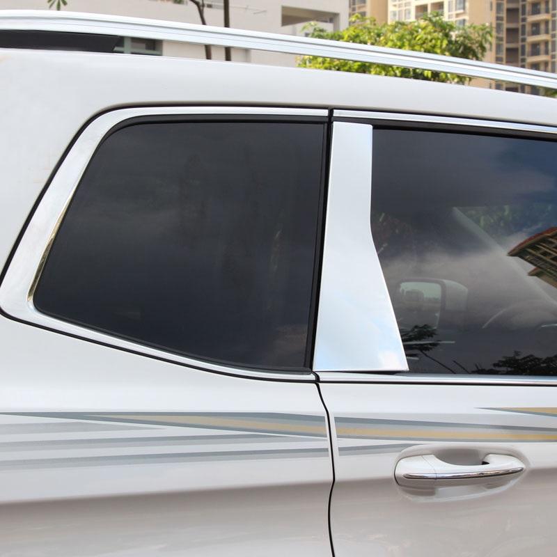 专用于福特2015-2016款新锐界中柱饰条锐界车窗饰条锐界改装 15款锐界专用 不锈钢镜面6件套