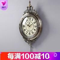 欧式钟表挂钟客厅个性创意现代时尚时钟美式家用艺术挂表大气简约 20英寸