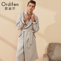 【2件3折到手价:188】欧迪芬家居睡衣简约时尚男士居家外袍XH8722