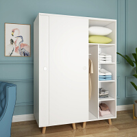 衣柜实木简易推拉移门出租房用儿童柜子经济型小户型北欧衣橱家用