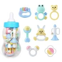 贝恩施婴儿手摇铃0-3-6-12个4月1岁新生儿男女孩宝宝益智牙胶玩具