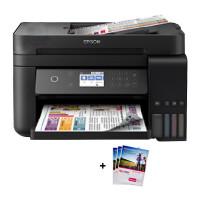 爱普生L6178墨仓式智能无线WIFI照片打印机自动双面办公家用彩色喷墨一体机连供打印复印扫描替L485 L655
