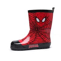 儿童雨鞋2-6-12岁男童天然橡胶雨靴中筒时尚防滑卡通套鞋