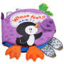 LALABABY/拉拉布书 早教6-12月婴儿书籍0-1-3岁撕不烂可咬 立体尾巴布书 脚丫书