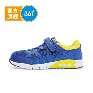 361° 1童鞋 男童跑鞋2017秋冬季新款男童跑步鞋皮革儿童运动鞋子K79410051