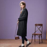 【1件3折叠券约:215.8,12日0点】美特斯邦威焦糖色毛呢外套女冬新款韩版甜美大衣百搭专柜款