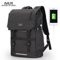 马可莱登双肩包男士时尚潮流电脑包大学生英伦书包大容量旅行背包