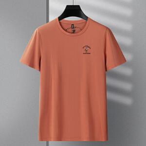 2件9折 3件8折 纯棉长袖T恤男士圆领夏季薄款拉架棉不起球不变形纯色修身打底衫 伯克龙男装A8878