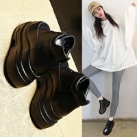 内增高松糕鞋女厚底2018新款韩版英伦风小皮鞋子百搭秋季网红女鞋