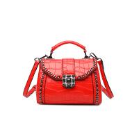 女包手提包新款韩版超火简约百搭单肩斜挎包迷你小包包潮 红色 少量现货