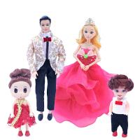 换装玩具芭比娃娃男朋友10关节王子 男芭比娃娃幸福一家人